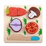 Children Wooden Cutting Fruits and Vegetables Educational Toys Kitchen Pretend Game Cooking Educational Toys(Carrot)