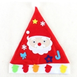 2 PCS DIY Christmas Hat Children Handmade Materials Kindergarten DIY Puzzle Cartoon Toys(Santa Claus)