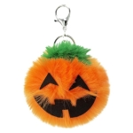 3 PCS Pumpkin Plush Keychains Fashion Car Halloween Key Chain Party Gift(Orange)