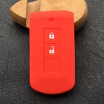 For Mitsubishi Outlander Car Key Silicone Holder 2 Buttons(Red)