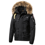 Teen Trend Cotton Padded Warm Coat, Size: XXL(Black)