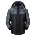 Men Winter Thick Fleece Waterproof Outwear Down Jackets Coats, Size: XXL(Black)
