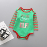 Spring and Autumn Children Christmas Costumes Cotton Long Sleeve Triangle Jumpsuits Romper, Size:95 Yards(F)