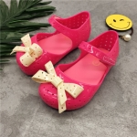 Girls Summer Non-slip Hole Shoes Beach Sandals, Shoe Size:27(Rose Red)