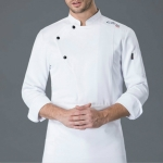Long Sleeve Chef Clothes Overalls, Size:M(White)