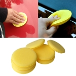 5 PCS Car Vehicle Wax Polish Foam Sponge Hand Soft Wax Yellow Sponge Pad for Car Detailing Care Wash