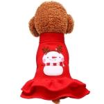 Christmas Cute Snowman Pet Dress Dog Clothes(S)