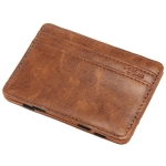 JINBAOLAI Creative Retro Short Men Wallet Card Package(Light Brown)