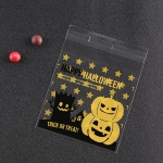 100 PCS/Pack Halloween Pumpkin Hat Elf Gift Bag Candy Bag Jewelry Bag(Pumpkin and Tree Demon)