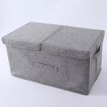 Anti-mold Foldable Storage Box Carry Handles Clothes Organizador Box, Size:S  36x25x16cm(Light Grey)