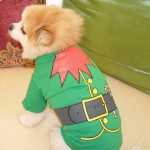 Christmas Pet Holiday Costume Dog Clothes Cotton T-shirt, Size:XS(Christmas Tree)