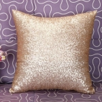 KL-1-14 Glitter Sequins Sofa Throw Pillow Cover For Home Decoration Sofa Cushion Case(Champagne)