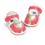 Soft Bottom Non-slip Baby Sandals Princess Shoes, Size:11cm(Peach Red)