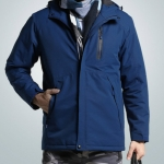 Autumn and Winter Men and Women Smart Heating Jacket Carbon Fiber Heating Travel Jacket, Size:S(Men Blue)