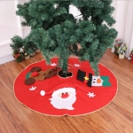 Plush Christmas Tree Carpet Family New Year Decoration