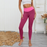 Women High Waist Tummy Fitness Pants (Color:Pink Size:S)