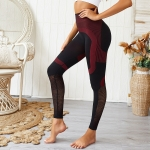 Ass Peach Heart Sports Leggings (Color:Black Red Size:S)