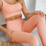 Quick-drying Suit Fitness Yoga Seamless (Color:Pink Size:S)