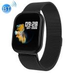 X116 1.3 inch HD Screen IP67 Waterproof Smart Bluetooth Steel Strap Bracelet, Support Call Reminder / Heart Rate Monitoring / Blood Pressure Monitoring / Sleep Monitoring (Black)
