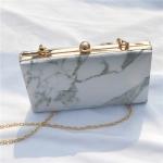 Dinner Mini Marble Striped Shoulder Chain Bag