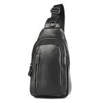 6027 Men Crossbody Bag Casual Multi-function Shoulder Waist Bag (Black)
