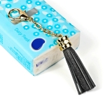 LS01 Tassel Zinc Alloy Keychain Car Hanging Bag Pendant (Black)