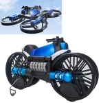 H6 2 In 1 Deformed Motorcycle Folding Quadcopter Remote Control Flying Toy