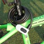 GQ10F IP66 Waterproof Anti-theft Bicycle Lock Smart Fingerprint Steel Ring Lock (Black)