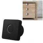 T5 Square Version Aluminum Alloy Panel Fingerprint Drawer Lock (Black)