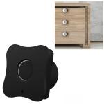 T5 Flower Version Aluminum Alloy Panel Fingerprint Drawer Lock (Black)