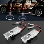 2 PCS Car Door Logo Light Brand Shadow Lights Courtesy Lamp for Maserati
