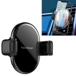 CW7 10W Max Output Roller Memory Car Mount Clip Holder Wireless Charger (Black)