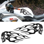Motorcycle Styling Skull Head PVC Sticker Auto Decorative Sticker (Black)