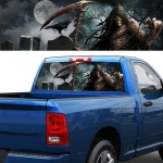 Scythe Death Pattern Horror Series Car Rear Window Decorative Sticker, Size: 168 x 74cm