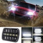 7 inch H4 DC 9V-30V 5000LM 6000K 45W IP67 Car Square Shape LED Headlight Lamps for Jeep Wrangler