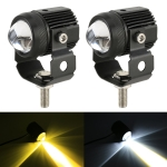 2 PCS DC9-36V / 20W / 6000K / 3000K / 3000LM Motorcycles Double Color Headlights / Fog Light