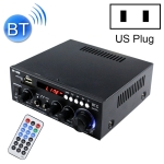 BT-508 110V Household / Car Bluetooth HIFI Amplifier Audio Support U-dish / FM with Remote Control, US Plug