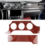 2 in 1 Car Carbon Fiber Dashboard Cover Panel Decorative Sticker for Ford Mustang