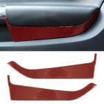 2 in 1 Car Carbon Fiber Door Panel Decorative Sticker for Ford Mustang