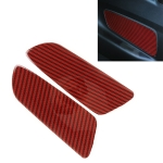 2 in 1 Car Carbon Fiber Rear Cover Decorative Sticker for Ford Mustang