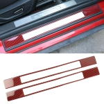 2 in 1 Car Carbon Fiber Welcome Pedal Outer Frame Decorative Sticker for Ford Mustang