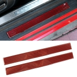 2 in 1 Car Carbon Fiber Welcome Pedal Inner Frame Decorative Sticker for Ford Mustang