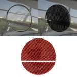 2 in 1 Car Carbon Fiber Fuel Tank Cover Decorative Sticker for Ford Mustang