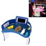 Children Waterproof Dining Table Toy Organizer Baby Safety Tray Tourist Painting Holder with Touch Screen Transparent Bag (Not Allowed to Peek)