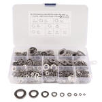 684 PCS Stainless Steel Spring Lock Washer Assorted Kit for Car / Boat / Home Appliance