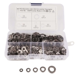 460 PCS Stainless Steel Spring Lock Washer Assorted Kit for Car / Boat / Home Appliance