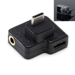 3.5mm + USB-C / Type-C to USB-C / Type-C Mic Mount Microphone Charging Audio Connector Adapter for DJI OSMO Action