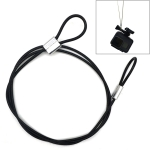 60cm Action Camera Universal Screw Anti-lost Wire Safety Rope for GoPro Fusion/Hero6/Hero5/Xiaoyi/Xiaomi (Black)