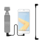 Sunnylife 30cm USB-C / Type-C to Micro USB Converting Connector Data Cable for  DJI OSMO Pocket(Black)