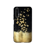 For Huawei Honor 20 Painted Pattern Soft TPU Protective Case(Gold Butterfly)